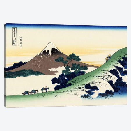 Inume Pass in The Kai Province Canvas Print #1786} by Katsushika Hokusai Canvas Art