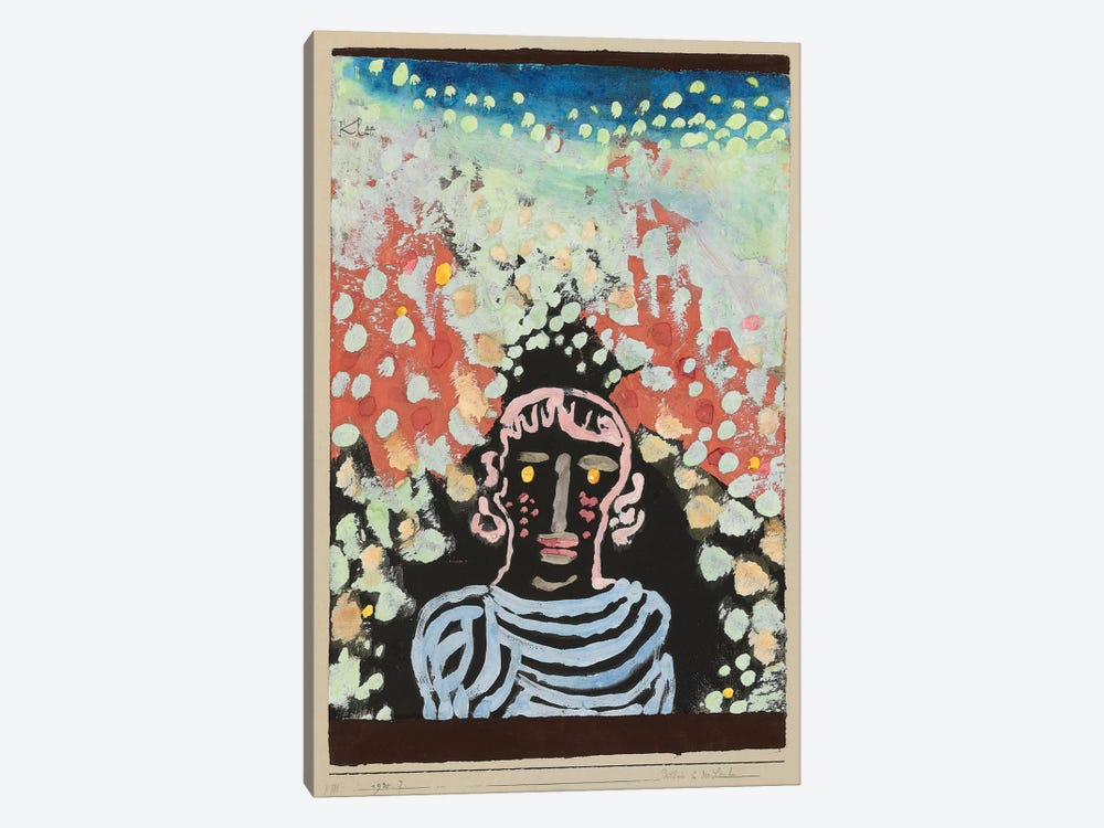 Likeness in The Bower by Paul Klee 1-piece Canvas Art