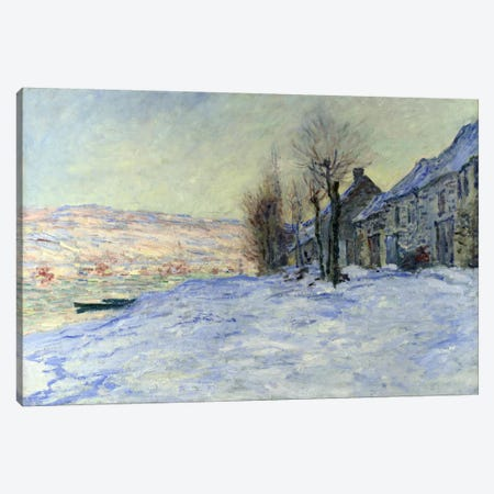 Lavacourt Sunshine and Snow Canvas Print #1795} by Claude Monet Canvas Art Print