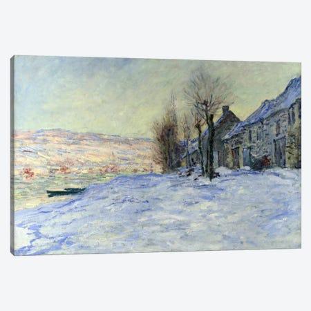 Lavacourt Sunshine and Snow 3-Piece Canvas #1795} by Claude Monet Canvas Art Print