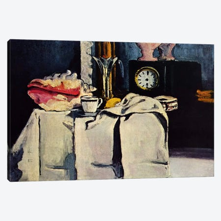 The Black Clock Canvas Print #1796} by Paul Cezanne Canvas Print