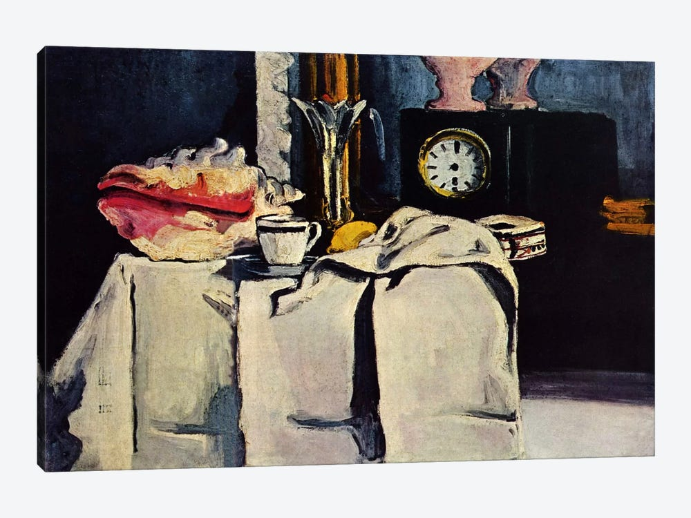 The Black Clock by Paul Cezanne 1-piece Canvas Wall Art