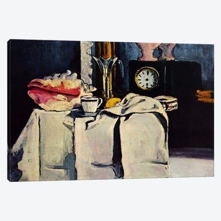 The Black Clock Canvas Print #1796} by Paul Cezanne Canvas Print