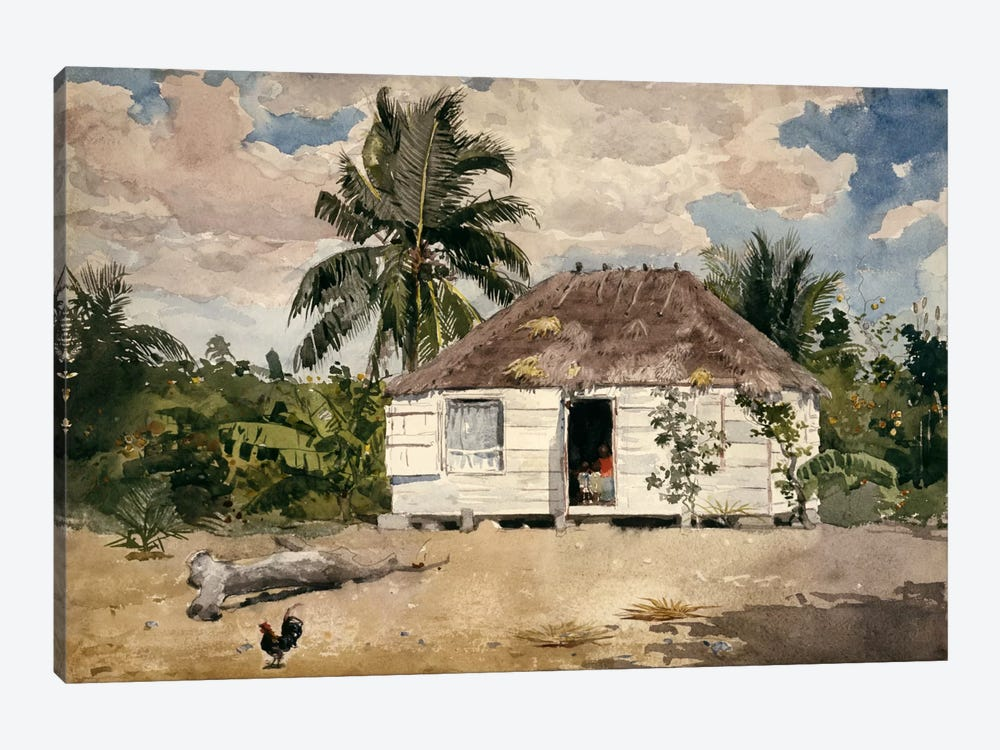 Native Huts, Nassau by Winslow Homer 1-piece Canvas Art Print