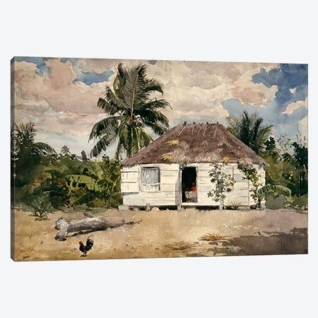 Native Huts, Nassau Canvas Print #1799} by Winslow Homer Canvas Art