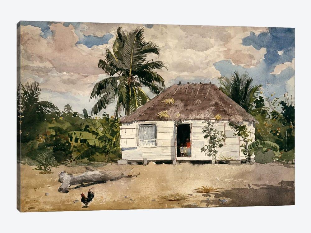 Native Huts, Nassau by Winslow Homer 1-piece Canvas Art Print
