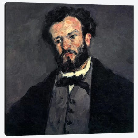 Portrait of Antony (Anthony) Valabregue Canvas Print #1804} by Paul Cezanne Art Print
