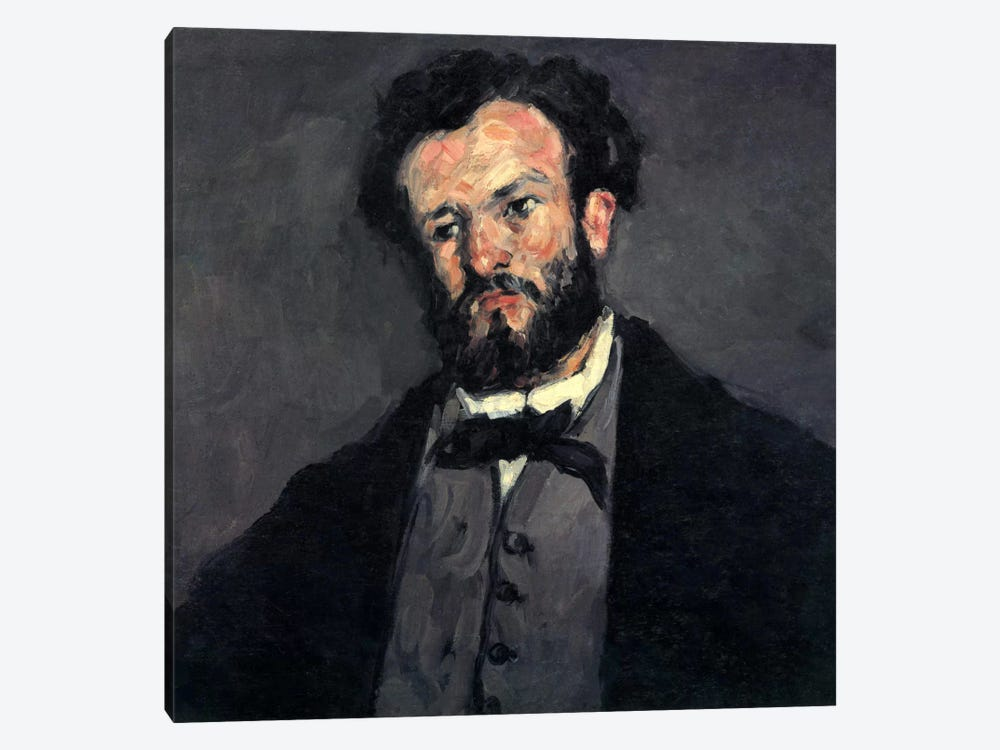 Portrait of Antony (Anthony) Valabregue by Paul Cezanne 1-piece Canvas Art Print