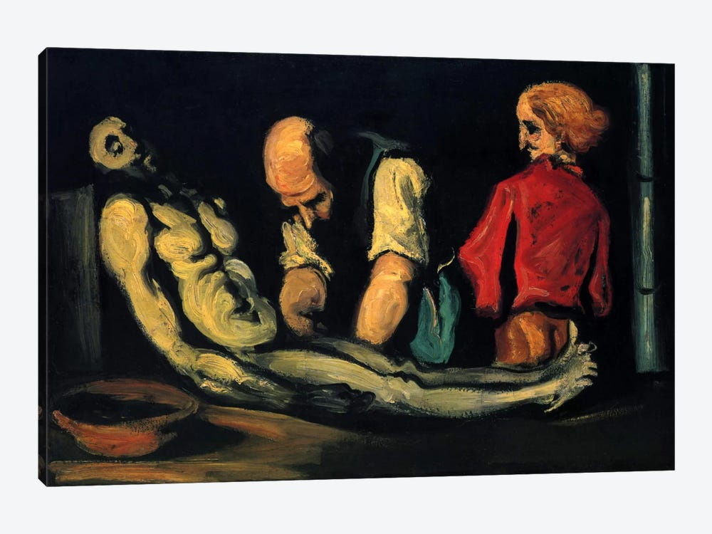 Preparation for The Funeral (The Autopsy) by Paul Cezanne 1-piece Canvas Wall Art