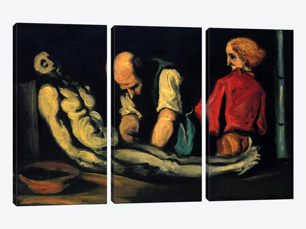Preparation for The Funeral (The Autopsy) by Paul Cezanne 3-piece Canvas Artwork