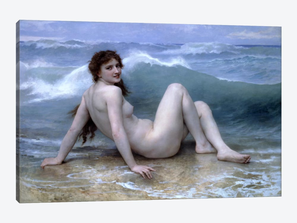 The Wave (La Vague) by William-Adolphe Bouguereau 1-piece Canvas Artwork