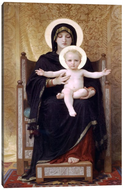 The Seated Madonna (Madone Assise) Canvas Art Print
