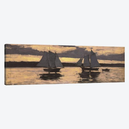 GloucesterMackerel Fleet at Sunset Canvas Print #1838} by Winslow Homer Canvas Art Print