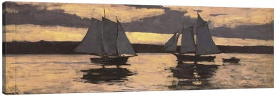 GloucesterMackerel Fleet at Sunset Canvas Art Print