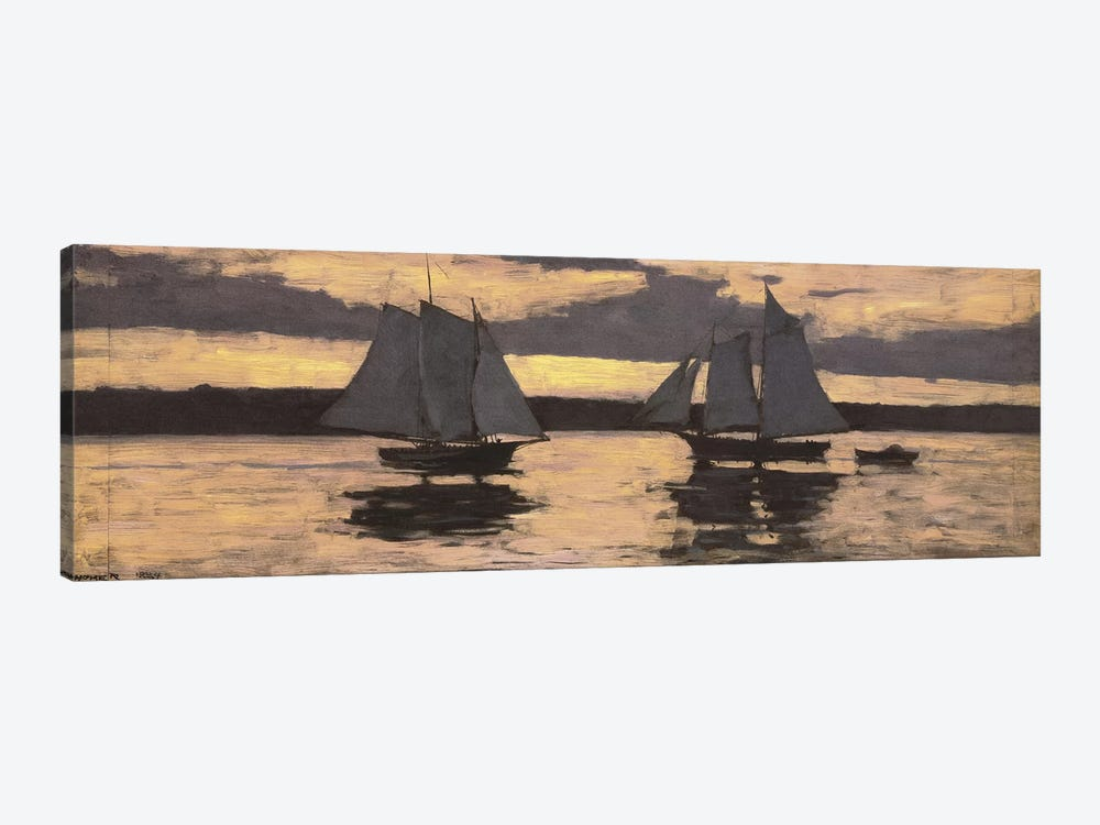 GloucesterMackerel Fleet at Sunset by Winslow Homer 1-piece Canvas Artwork