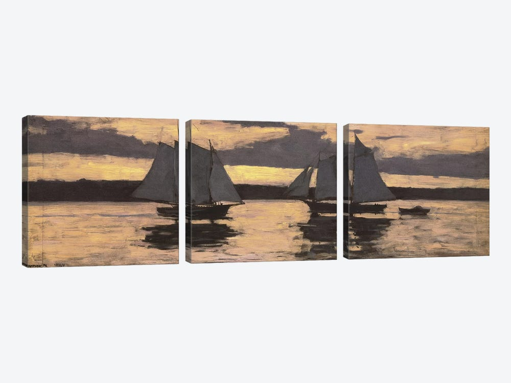 GloucesterMackerel Fleet at Sunset by Winslow Homer 3-piece Canvas Artwork