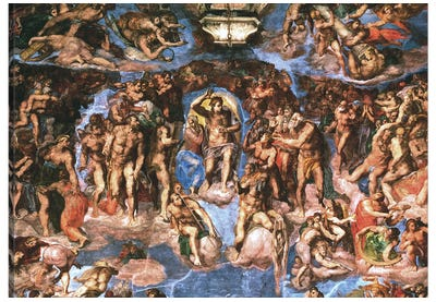 Sistine Chapel: The Last Judgement by Michelangelo Canvas Artwork
