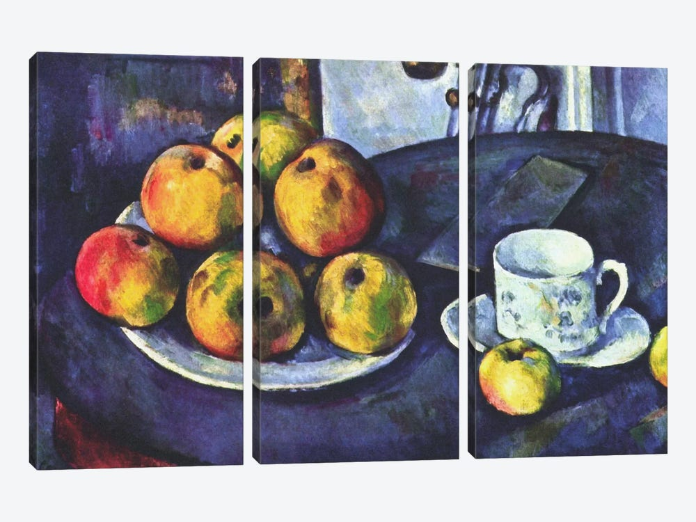 Still Life with Apples by Paul Cezanne 3-piece Canvas Wall Art