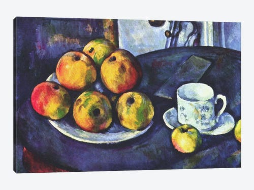 Still Life With Apples Canvas Art Print By Paul Cezanne Icanvas