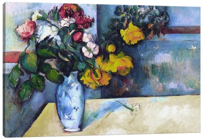 Still Life: Flowers in a Vase Canvas Art Print