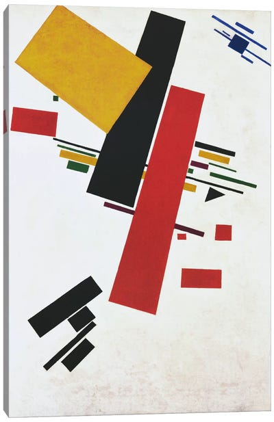 Dynamic Suprematism by Kazimir Malevich Canvas Art Print