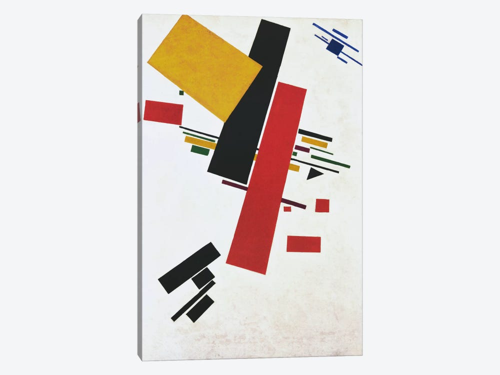 Dynamic Suprematism by Kazimir Severinovich Malevich 1-piece Canvas Wall Art