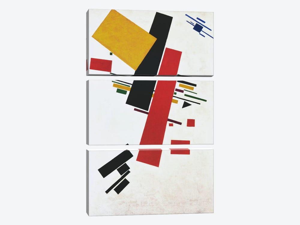 Dynamic Suprematism by Kazimir Severinovich Malevich 3-piece Canvas Artwork