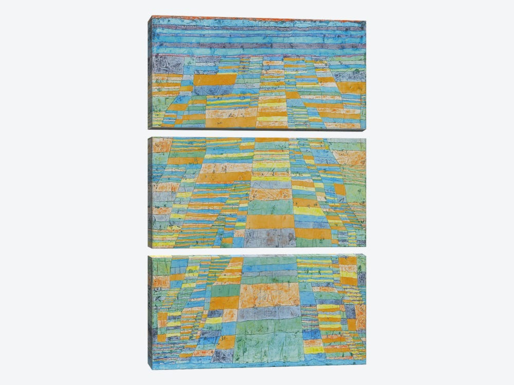 Primary Route and Bypasses by Paul Klee 3-piece Art Print