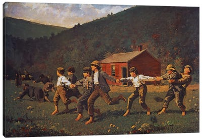 Snap The Whip by Winslow Homer Canvas Wall Art