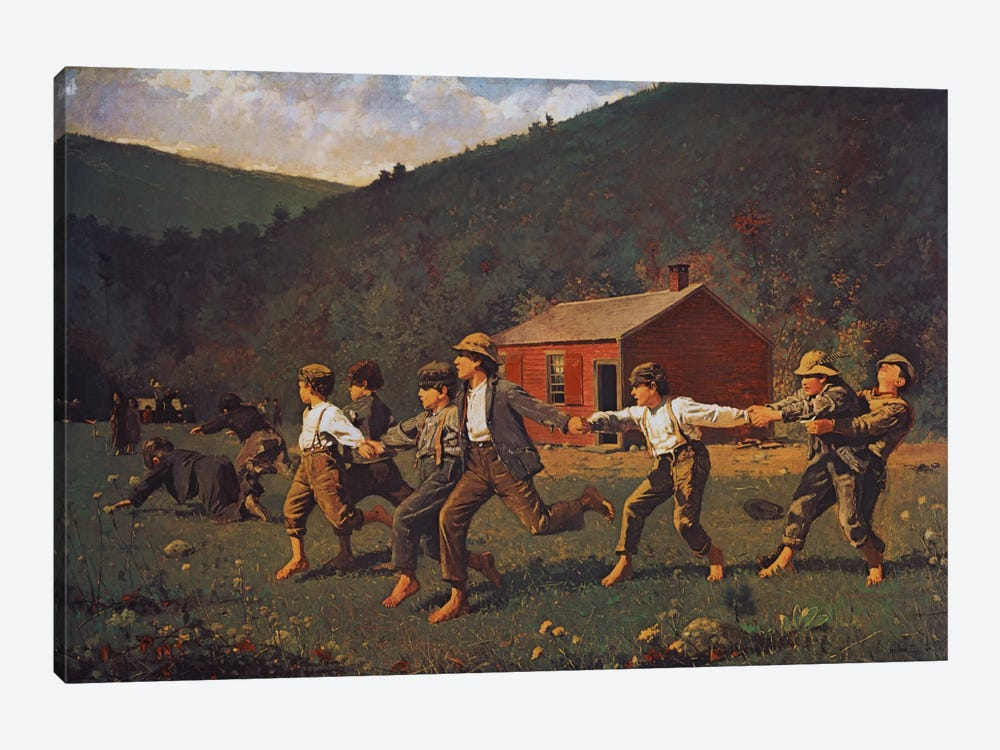Snap The Whip by Winslow Homer 1-piece Canvas Art