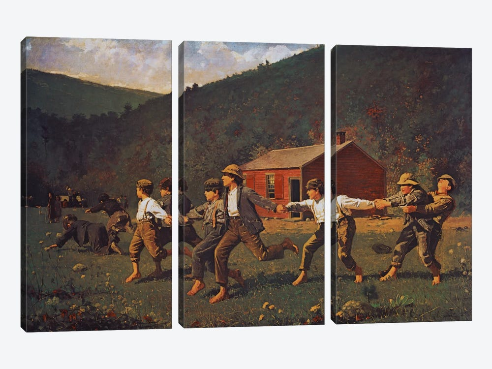 Snap The Whip by Winslow Homer 3-piece Canvas Art