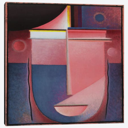 Looking Within Rosy Light Canvas Print #1858} by Alexej von Jawlensky Canvas Print