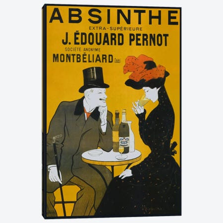Absinthe, Pernot - Vintage Poster Canvas Print #1864} by Vintage Apple Collection Canvas Art Print