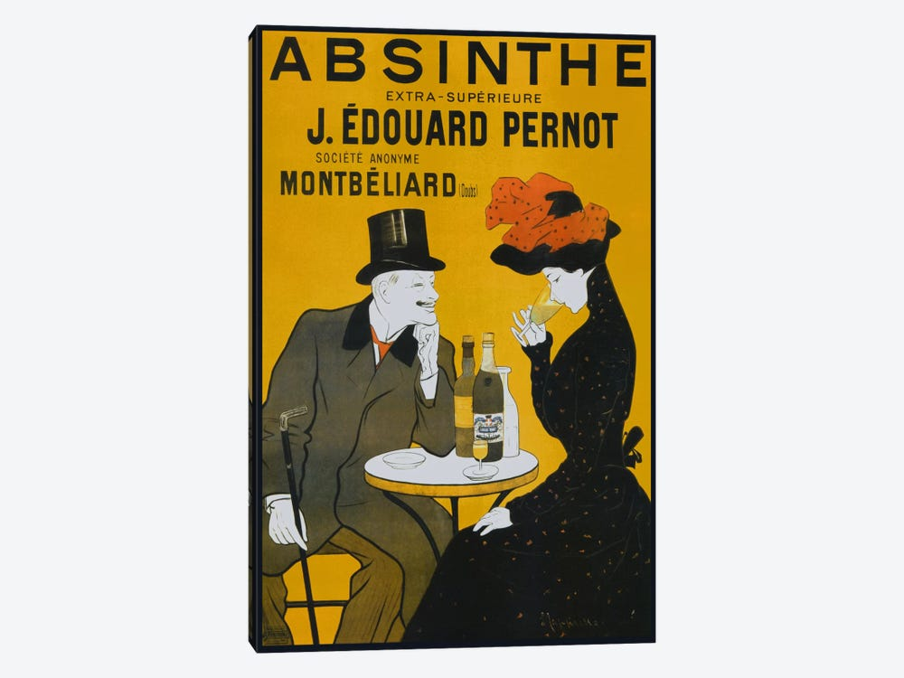 Absinthe, Pernot - Vintage Poster by Vintage Apple Collection 1-piece Canvas Art Print