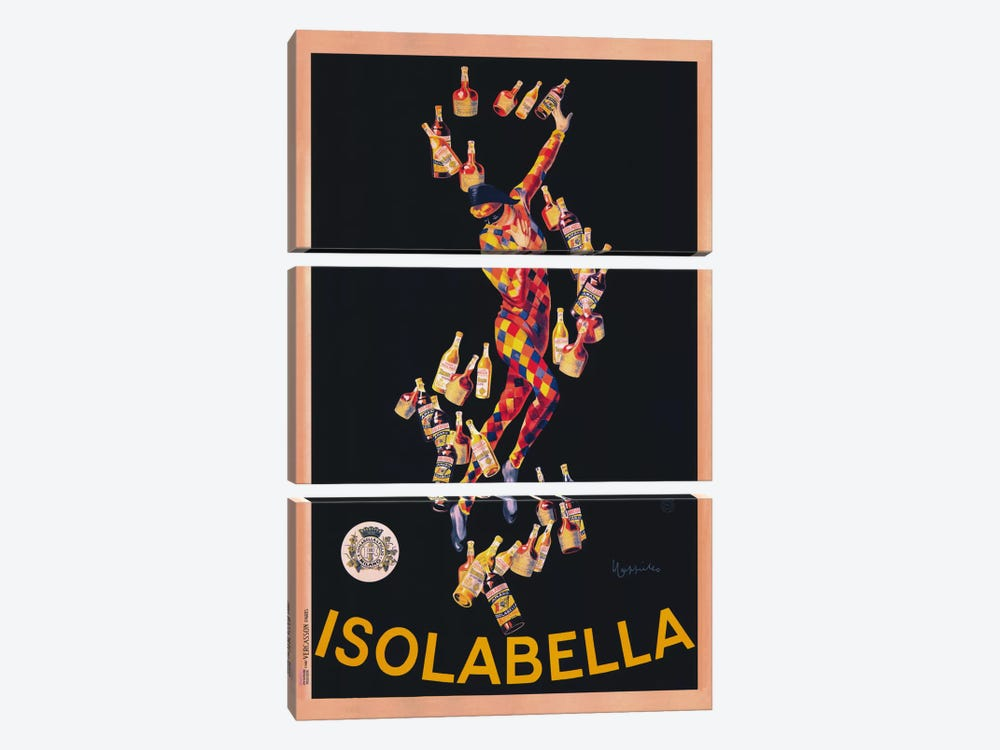 Isolabella (Vintage) by Leonetto Cappiello 3-piece Canvas Art Print