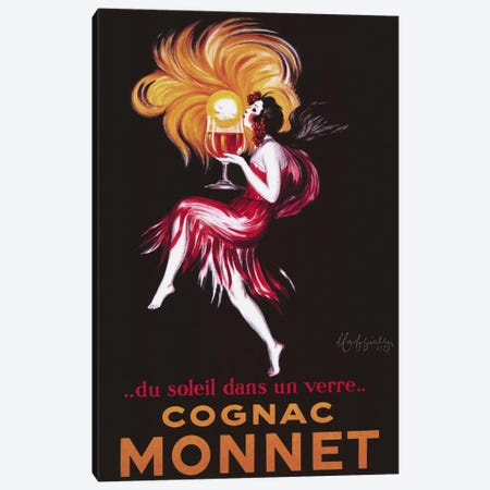 Cognac Monnet (Vintage) Canvas Print #1870} by Leonetto Cappiello Canvas Art Print