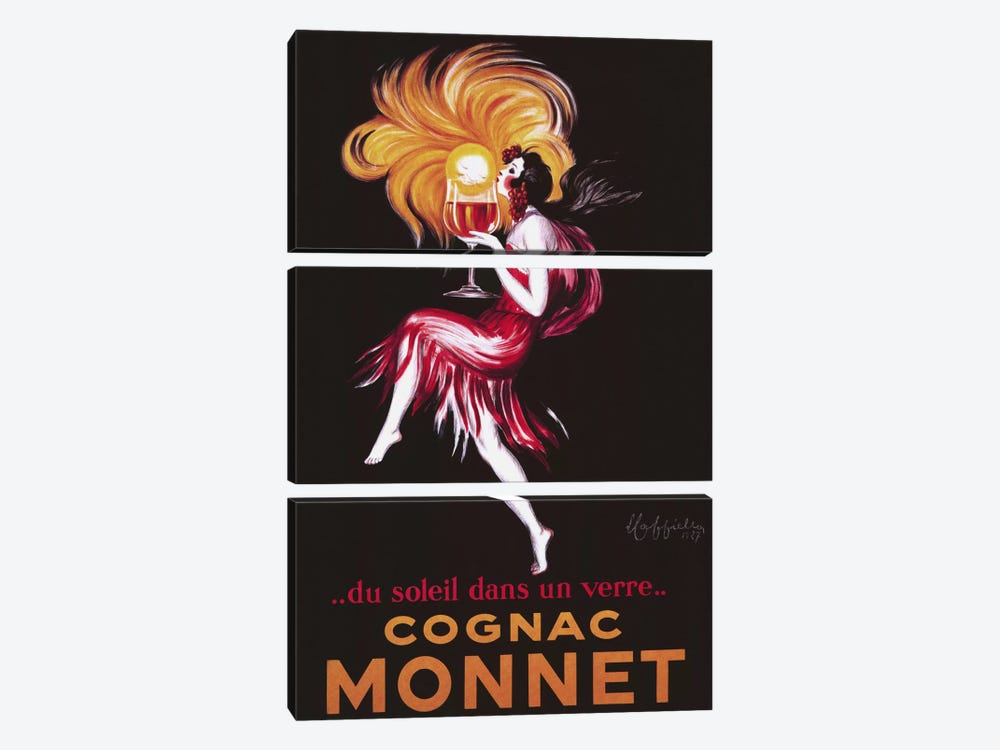 Cognac Monnet (Vintage) by Leonetto Cappiello 3-piece Canvas Wall Art