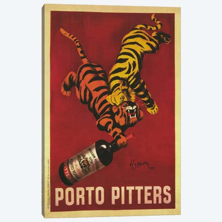 Porto Pitters (Vintage) Canvas Print #1871} by Leonetto Cappiello Canvas Print