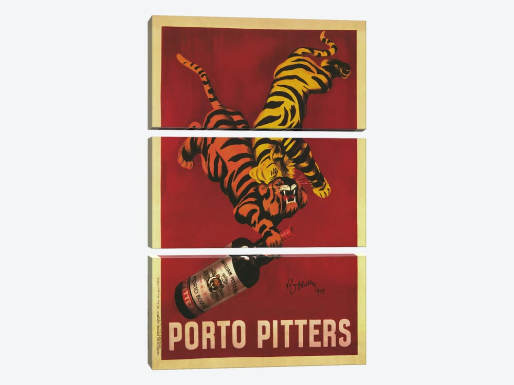Porto Pitters (Vintage) by Leonetto Cappiello 3-piece Canvas Print