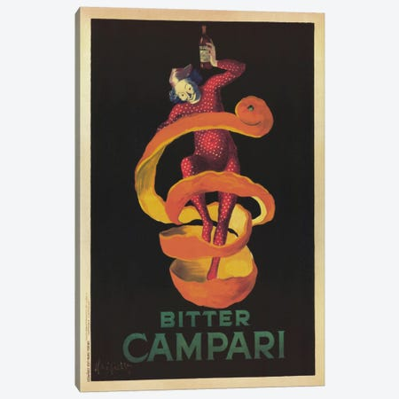 Bitter Campari (Vintage) Canvas Print #1872} by Leonetto Cappiello Art Print
