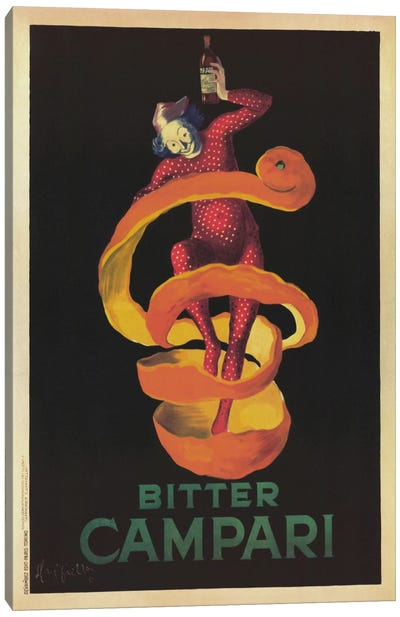 Bitter Campari (Vintage) Canvas Art Print