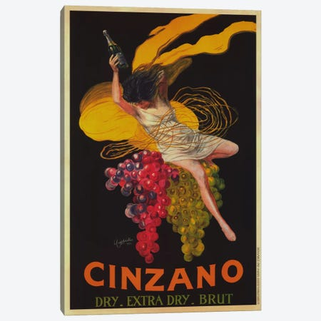 Asti Cinzano (Vintage) Canvas Print #1873} by Leonetto Cappiello Canvas Print