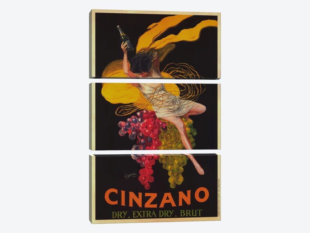 Asti Cinzano (Vintage) by Leonetto Cappiello 3-piece Canvas Print