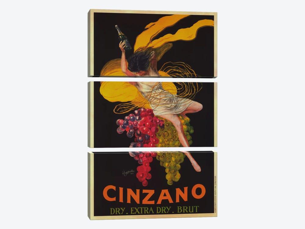 Asti Cinzano (Vintage) by Leonetto Cappiello 3-piece Canvas Print
