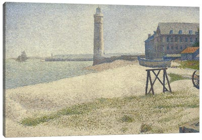 The Lighthouse at Honfleur by Georges Seurat Art Print