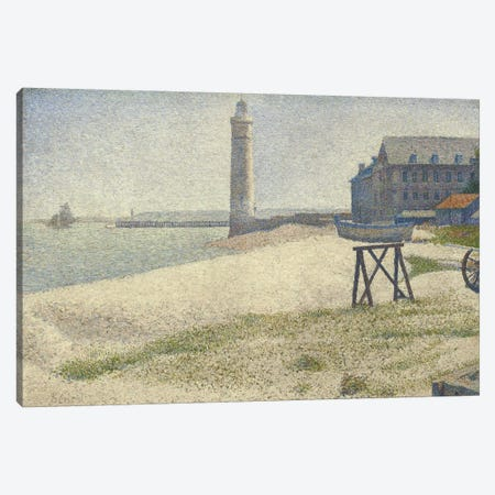 The Lighthouse at Honfleur Canvas Print #1878} by Georges Seurat Art Print