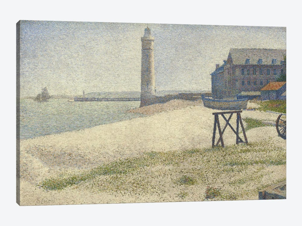 The Lighthouse at Honfleur by Georges Seurat 1-piece Canvas Art