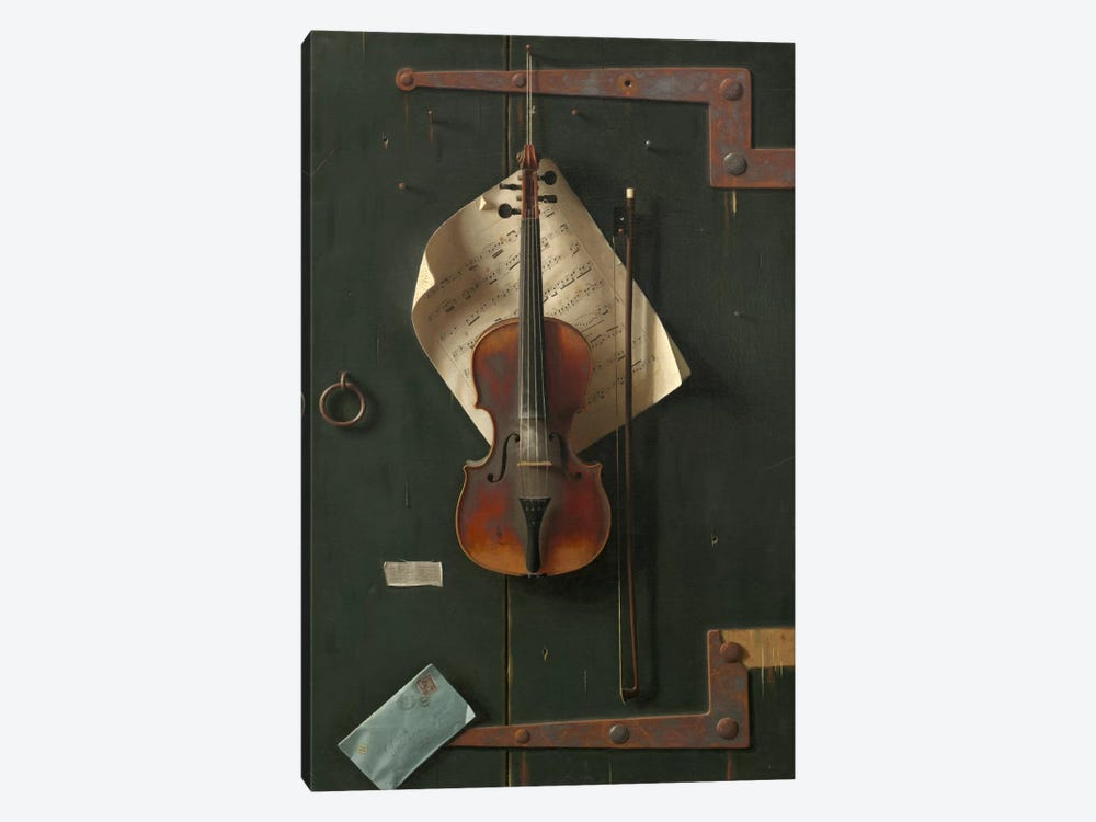The Old Violin by William Michael Harnett 1-piece Art Print