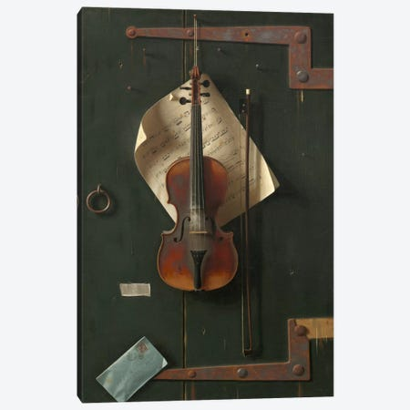 The Old Violin Canvas Print #1880} by William Michael Harnett Canvas Art