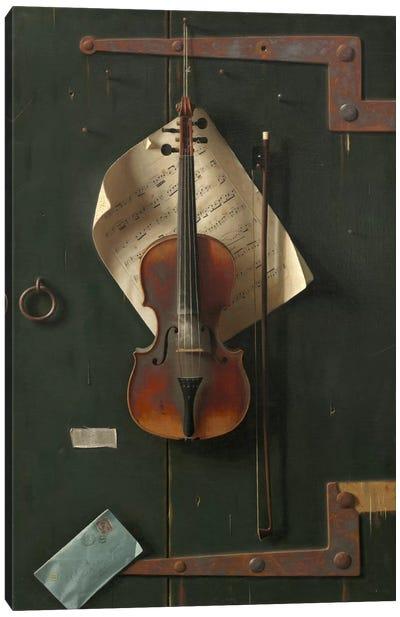 The Old Violin Canvas Art Print